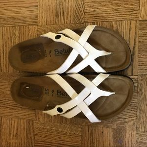 White betula Birkenstock sandals